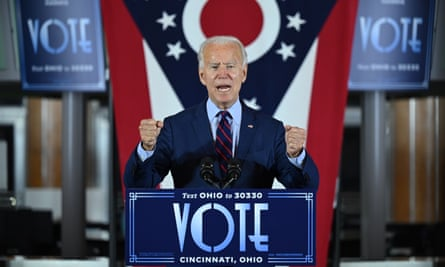 'It's going to get really, really ugly': the Democrats' presidential candidate and former vice-president Joe Biden at an event in Cincinnati, Ohio, in October, 2020.