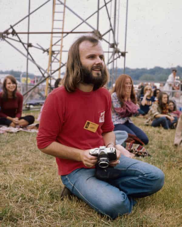 John Peel at Reading festival, circa 1970
