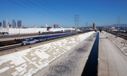 The LA river stretches for 51 miles through Los Angeles County.