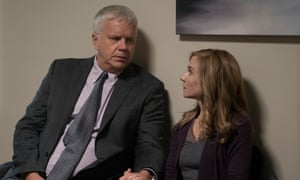 Be Here (and) Now: Tim Robbins and Holly Hunter.