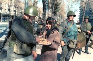 A state of emergency was declared in Dushande, Tajikstan, February 1990.