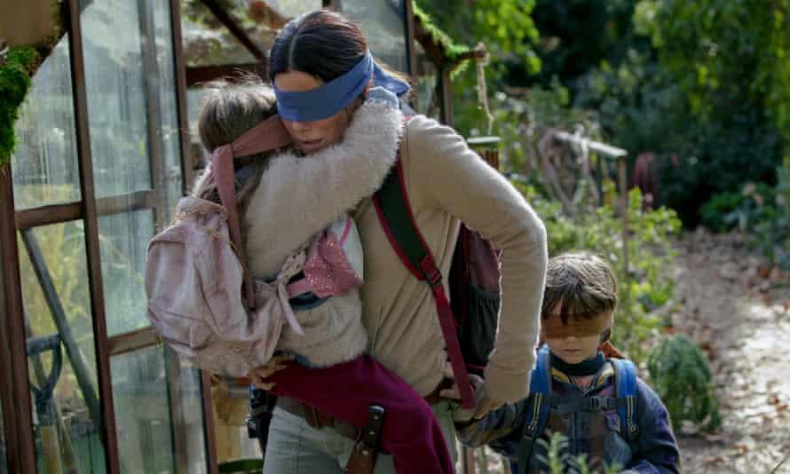 Sandra Bullock in a scene from Bird Box.