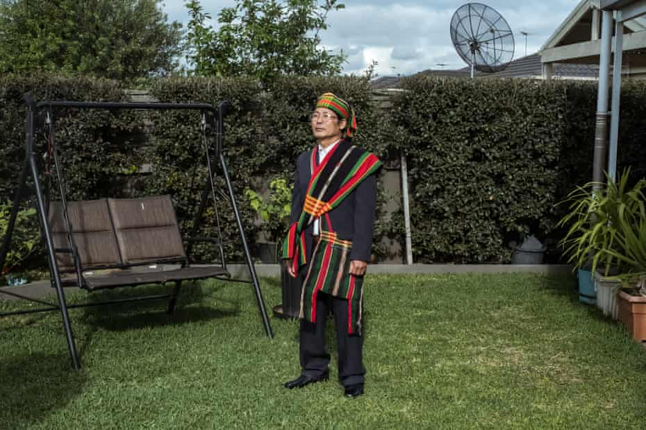 Tui Cung is from the Chin people, one of the ethnic minorities of Burma in his home in Truganina, Australia