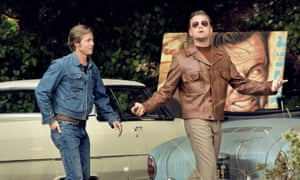 Brad Pitt and Leonard DiCaprio in Once Upon a Time in Hollywood.