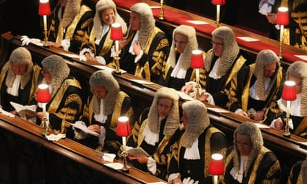 Judges attending an annual service at Westminster Abbey. Only 37% of people surveyed said they trusted the legal system's professionals.