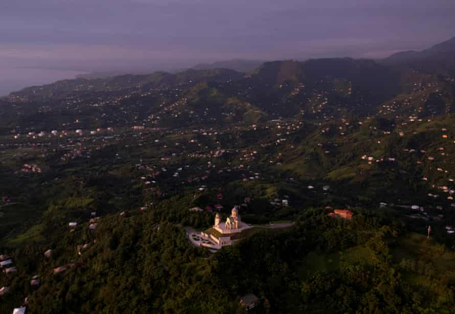 Away from the neon and nightclubs are the quiet hills around Batumi's Convent Of The Holy Trinity