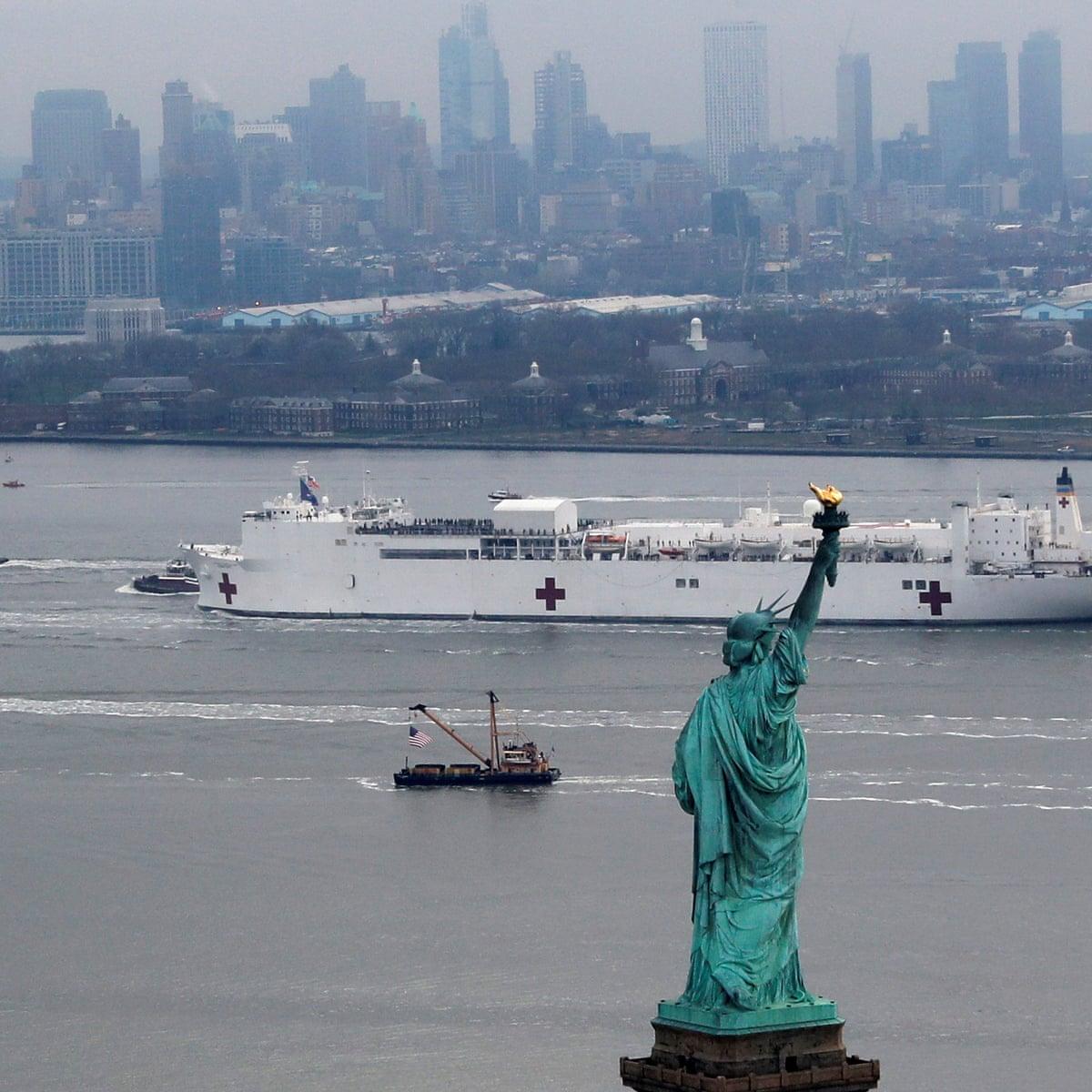 New York Makeshift Hospitals Set Up As Cuomo Warns Tsunami Is