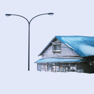 An image of a house in snow from Chinese photographer Ying Yin's series Wind of Okhotsk