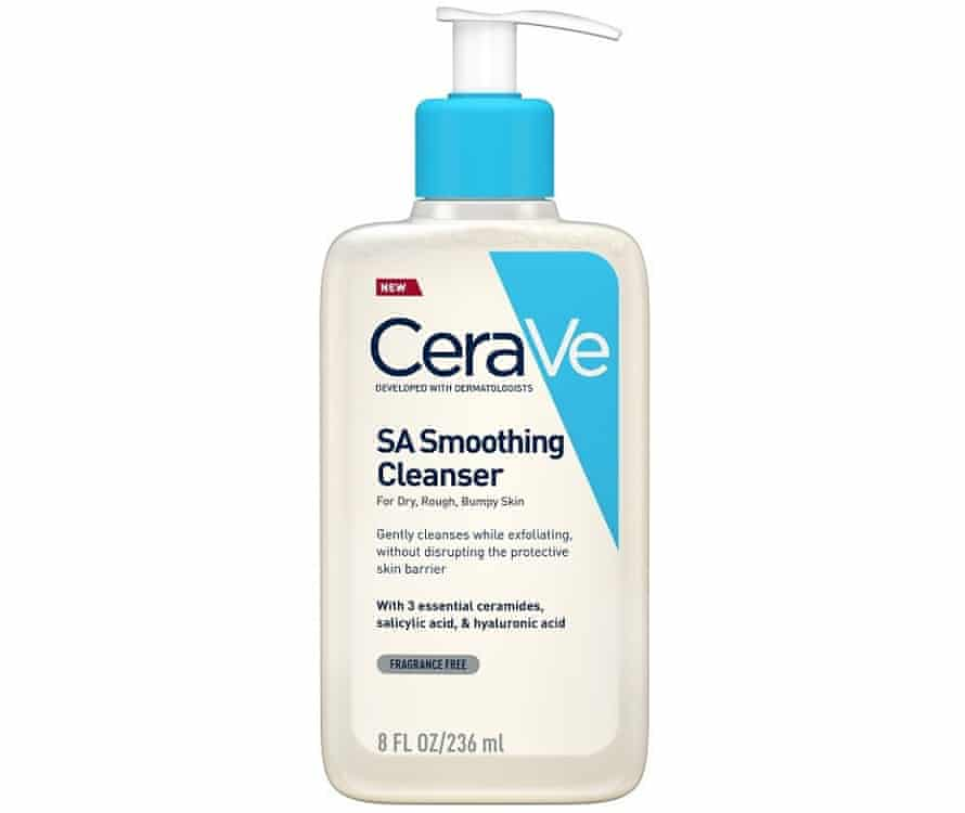 CeraVe SA Smoothing Cleanser for dry rough bumpy skin
