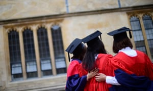 Students take part in a graduation ceremony at Oxford University