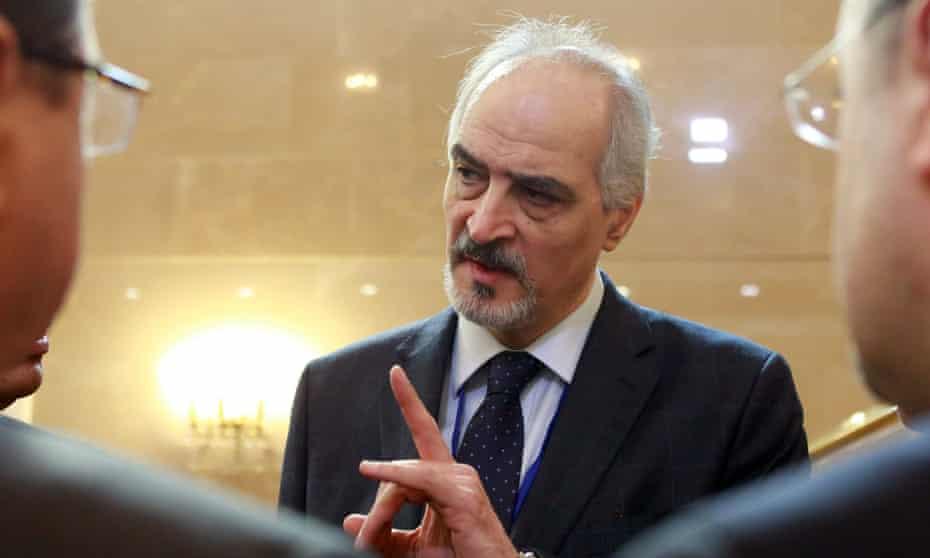 Head of Syrian government delegation Bashar al-Jaafari