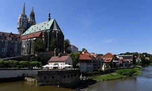 A view of historical city centre of Görlitz.