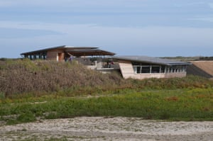 The Parrinder hide at the Titchwell Marsh RSPB reserve