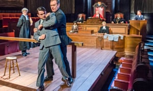 Leonard Vole (Jack McMullen) and John House (Warder) in Witness for the Prosecution.