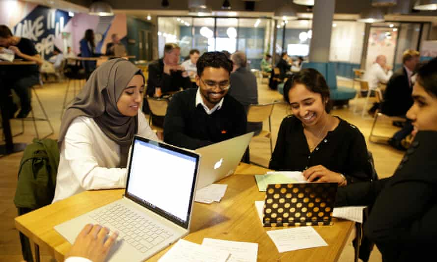 QMUL students working on consultancy projects from SMEs and charities.