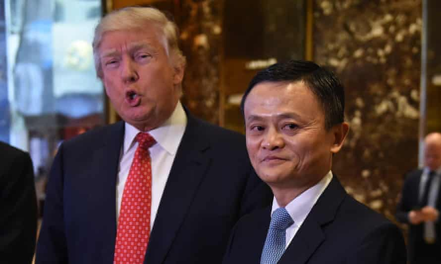 Jack Ma with Donald Trump in January 2017