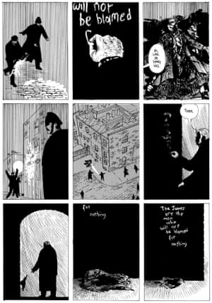 A page from From Hell, written by Alan Moore and illustrated by Eddie Campbell