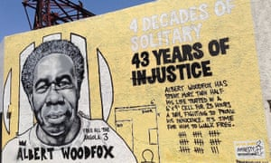 A mural dedicated to Albert Woodfox in New Orleans, Louisiana, by Brandan 'B-mike' Odums.