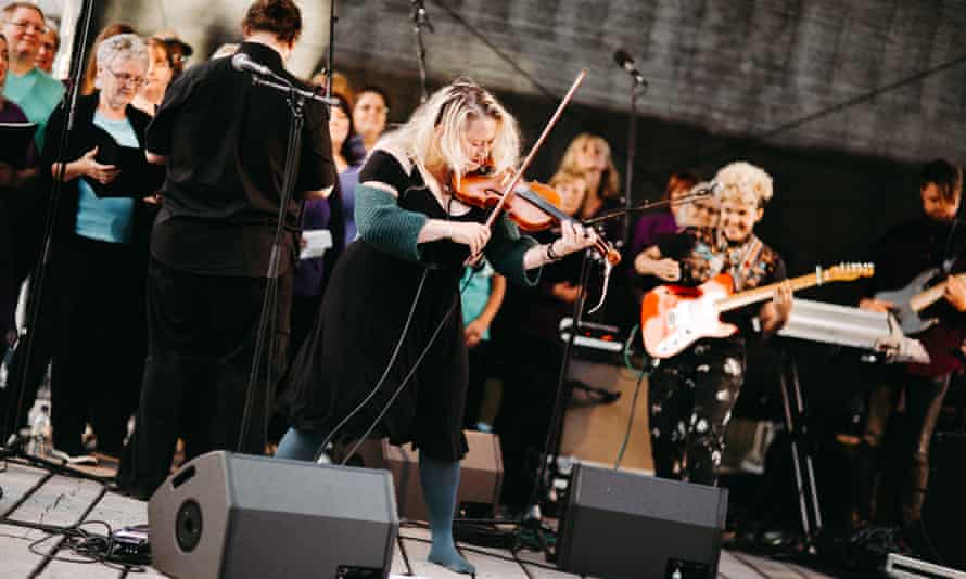 Eliza Carthy, whose Rivers and Railways was a collaboration with the Moulettes and the Freedom Choir.