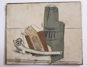 'Papier colle pipe et bouteille' by Picasso.