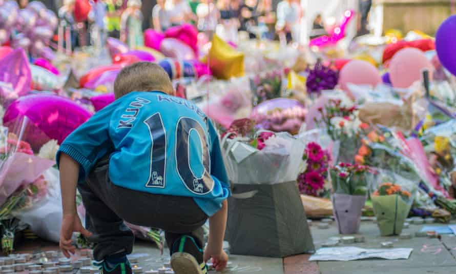 Floral tributes to victims of the Manchester Arena terror attack