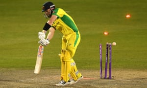 Finch, bowled by Woakes.