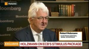 Austrian central bank governor Robert Holzmann