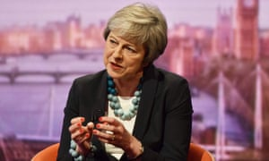 Theresa May was speaking on The Andrew Marr Show