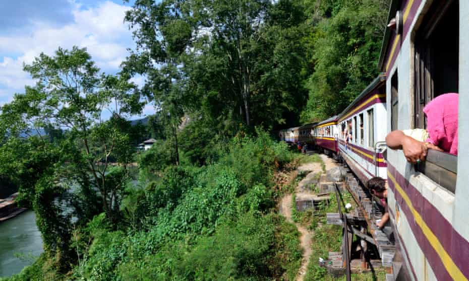 View from the train between Bangkok to Nam Tok over the River Kwai Bridge