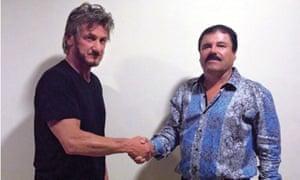 Sean Penn with the then fugitive Joaquín 'El Chapo' Guzmán in 2015.