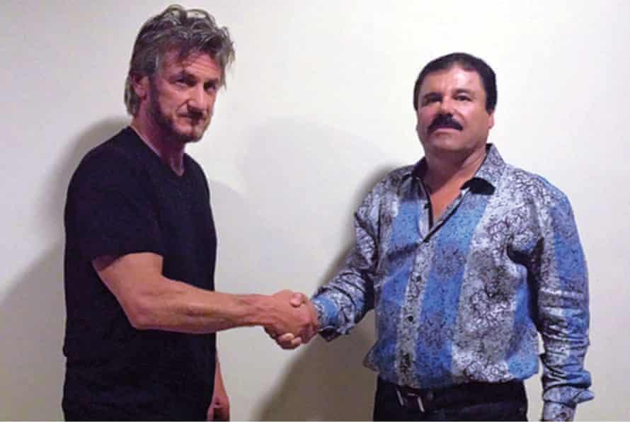 Sean Penn and Joaquin 'El Chapo' Guzmán in 2015.