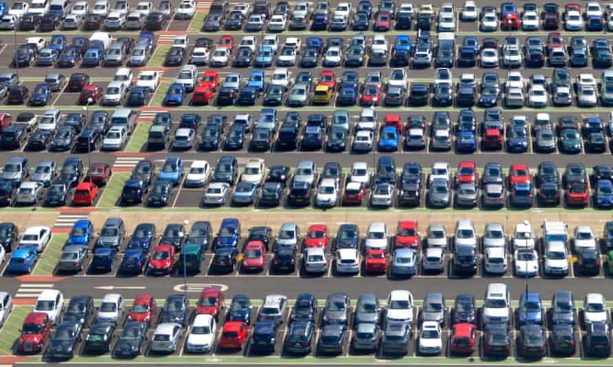 vast car park filled with cars