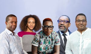 Signatories to the letter include (left to right): Adrian Lester, Afua Hirsch, Gina Yashere, Lenny Henry and Krishnan Guru-Murthy.