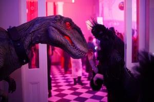 Jurassic Park artwork at Société Anonyme, Dark Mofo's annual costume ball, at Hadley's Orient Hotel