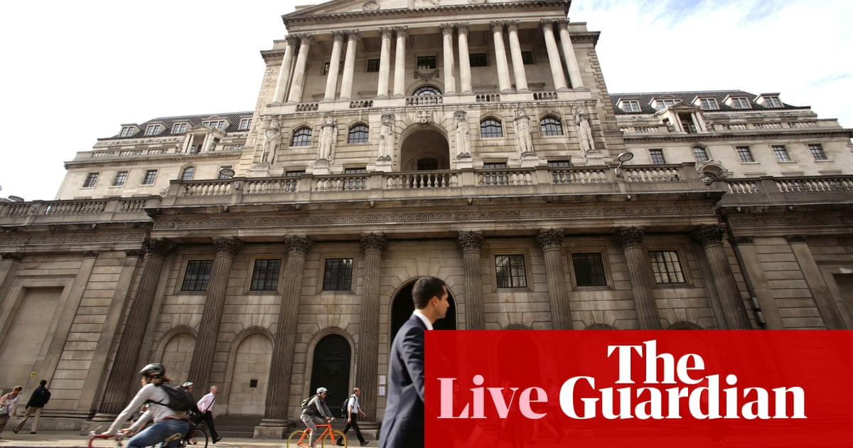 US rate cut hopes lift pound over $1.27, ahead of Bank of England decision - business live