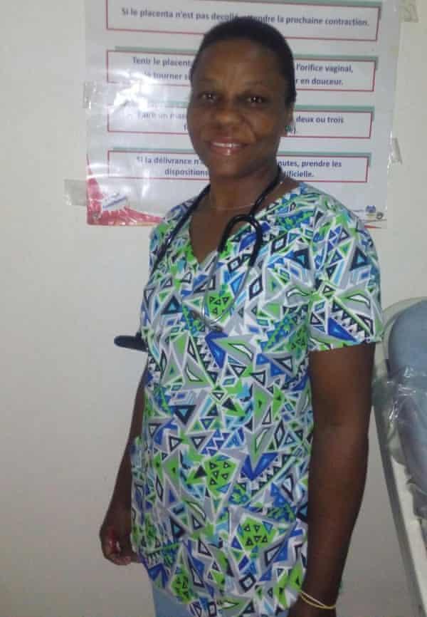 Marie-Lyrette Casimir, a midwife at St Antoine hospital