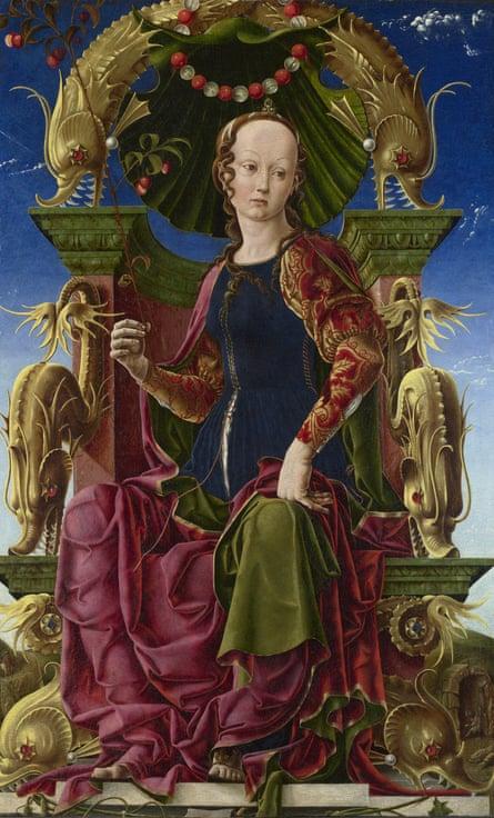 Cosimo Tura, A Muse (Calliope?). Probably 1455-60