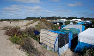 The Calais camp, home to an estimated 9,000 asylum seekers.