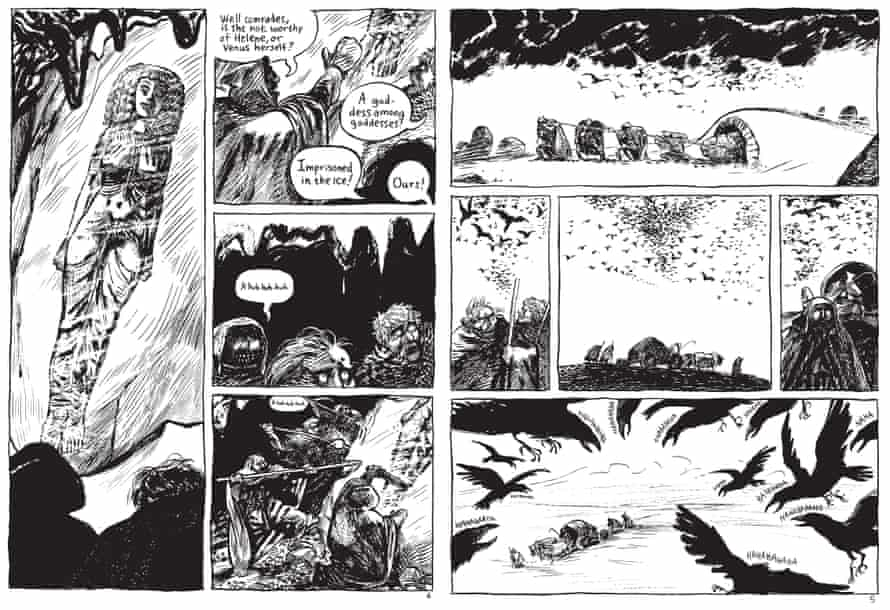 Blutch's 'lines are stark and his frames hefty'.