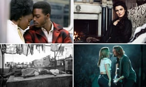 Clockwise from top left – If Beale Street Could Talk, The Favourite, A Star is Born and Roma.