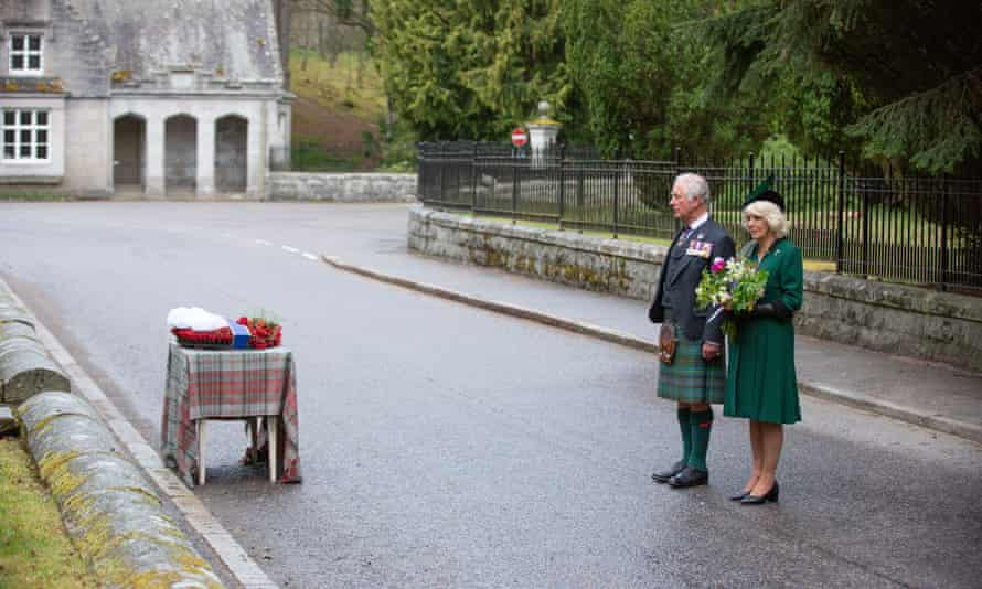 Prince Charles and Camilla Duchess of Cornwall mark the VE Day 75th anniversary in Balmoral, Scotland.