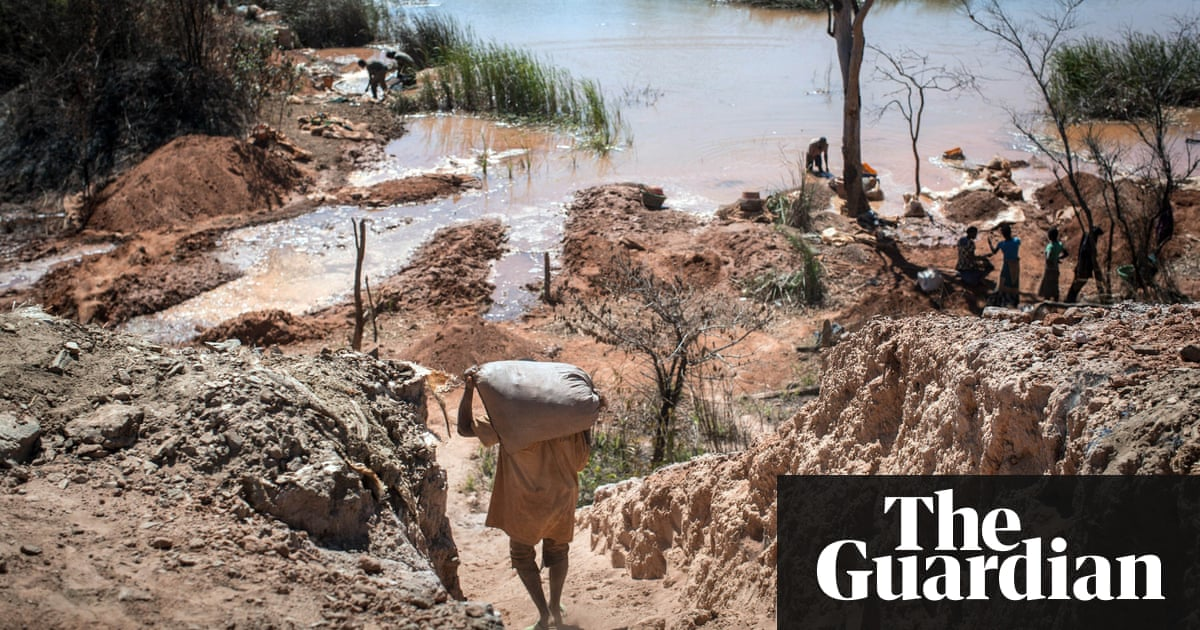 Image result for Children as young as seven mining cobalt used in smartphones, says Amnesty