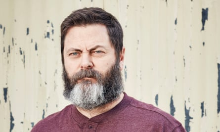 Nick Offerman: 'I'm grateful to Twitter as an avenue in which I can vent my ire, because otherwise I'd be out burning down a building or something.'