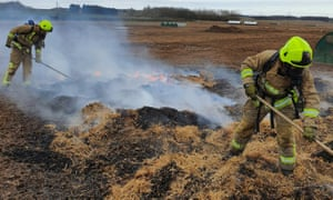 Firefighters in Yorkshire tackle a blaze that broke out after a pig excreted a pedometer in its pen.