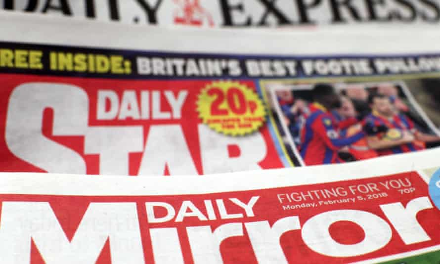 Fronts pages of the Daily Express, Daily Star and Daily Mirror.