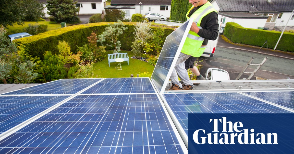 Home solar panel installations fall by 94% as subsidies cut