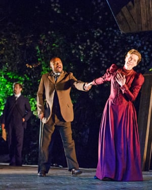 Fraser James and Janie Dee in The Seagull, Regent's Park Open Air theatre, directed by Matthew Dunster (2015)