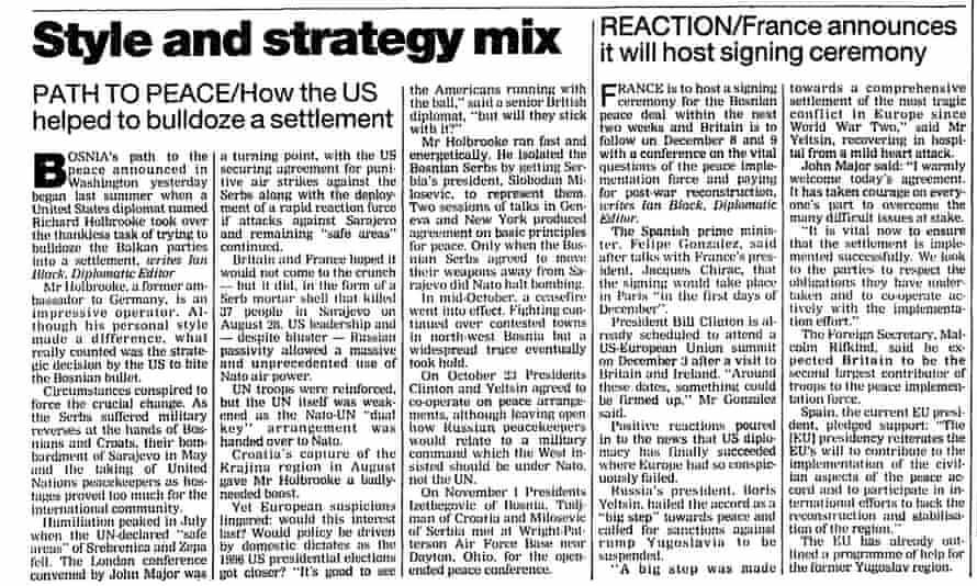 The Guardian, 22 November 1995.