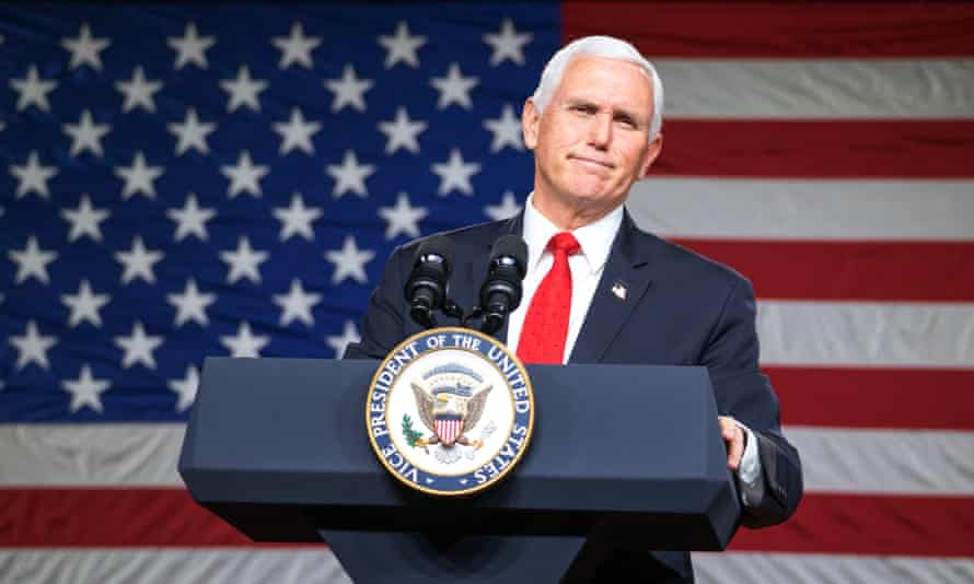 Mike Pence in Milner, Georgia, on 4 January.