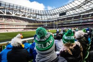 Ireland fans fill the Aviva Stadium